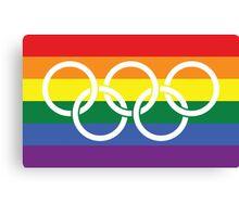 Rainbow Olympics Canvas Print