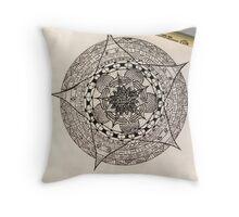 Flower Template Mandala Throw Pillow