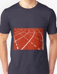 At the turn on running track T-Shirt