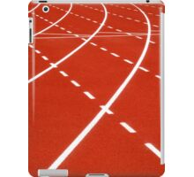 At the turn on running track iPad Case/Skin