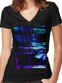 Interference Women's Fitted V-Neck T-Shirt