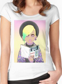 Girls read comics too! Ghost  Women's Fitted Scoop T-Shirt