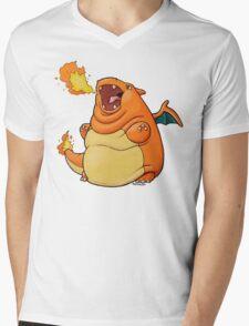Charilard Mens V-Neck T-Shirt