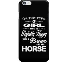 I'm the type of girl iPhone Case/Skin