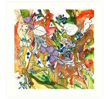 Rainbow Frolic Art Print