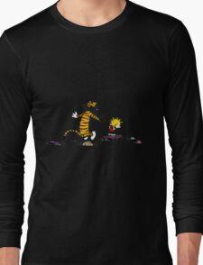 calvin and hobbes jump Long Sleeve T-Shirt