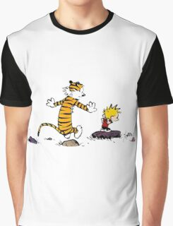 calvin and hobbes jump Graphic T-Shirt