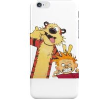calvin and hobbes mocking iPhone Case/Skin