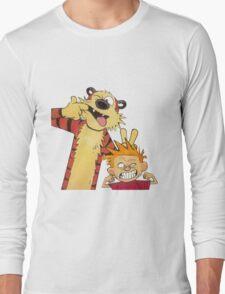 calvin and hobbes mocking Long Sleeve T-Shirt
