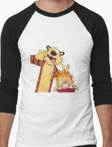 calvin and hobbes mocking Men's Baseball ¾ T-Shirt
