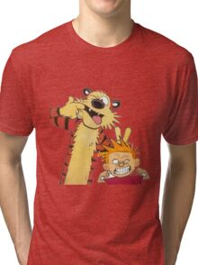 calvin and hobbes mocking Tri-blend T-Shirt