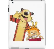calvin and hobbes mocking iPad Case/Skin
