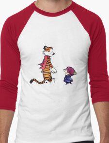 calvin and hobbes talk and walk Men's Baseball ¾ T-Shirt