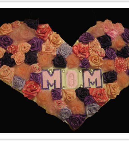 Mom's Heart of Roses Sticker