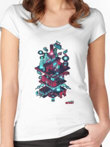 Mr robot diagram Women's Fitted Scoop T-Shirt