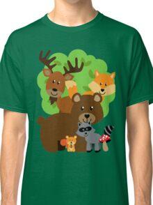 Woodland Animals Bear Fox Deer Raccoon Squirrel Classic T-Shirt