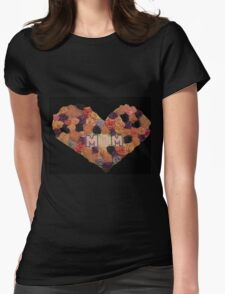 Mom's Heart of Roses Womens Fitted T-Shirt