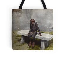 """""""Mary"""" on a bench with a pipe, ca 1940 Tote Bag"""