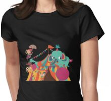Big Top Circus Trapeze Elephants Clown Womens Fitted T-Shirt