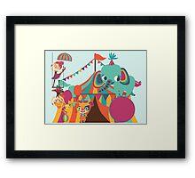 Big Top Circus Trapeze Elephants Clown Framed Print