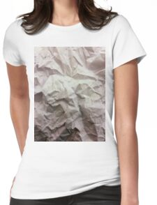 """crumpled paper"" iPhoneography Womens Fitted T-Shirt"