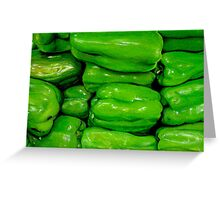 Green Peppers in Colour Pencils Greeting Card