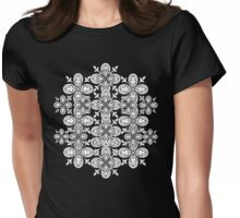 Color Me Abstract Petals Pattern Womens Fitted T-Shirt