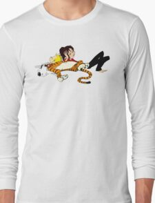 Calvin And Hobbes : Sleepy Time Long Sleeve T-Shirt