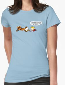 Calvin And Hobbes : Discussion Womens Fitted T-Shirt
