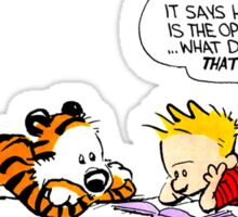 Calvin And Hobbes : Discussion Sticker