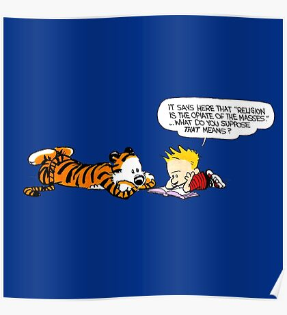 Calvin And Hobbes : Discussion Poster