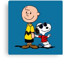 Charlie Brown And His Good Friend Canvas Print