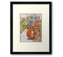 Floral Pitcher Framed Print