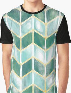 Chevron - Forest Mist Graphic T-Shirt