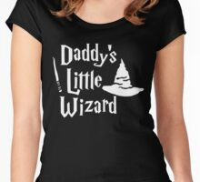 Daddys Little Wizard Women's Fitted Scoop T-Shirt