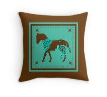 Bandanna Pony Throw Pillow
