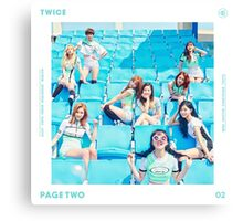 TWICE 'PAGE TWO' Canvas Print