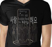 I'm so addicted to KPOP Mens V-Neck T-Shirt