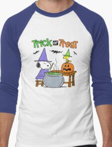 Snoopy Trick Or Treat Men's Baseball ¾ T-Shirt