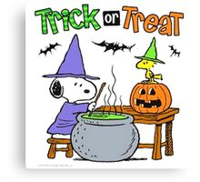 Snoopy Trick Or Treat Canvas Print
