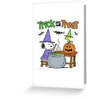 Snoopy Trick Or Treat Greeting Card