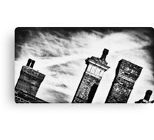 Chimneys of Kettering Station in b&w from Kettrin' Kollection Canvas Print