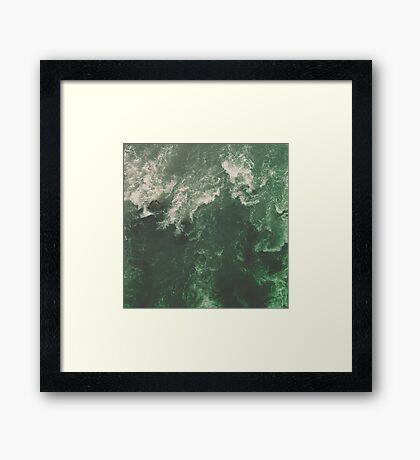 Green Ocean Framed Print