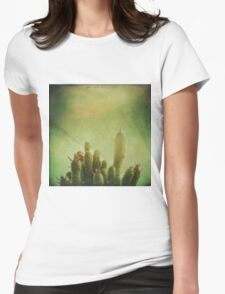 Cactus in my mind Womens Fitted T-Shirt