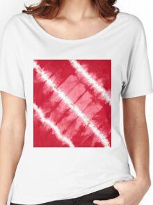 tye n dye diagonal lines by fan folding print Women's Relaxed Fit T-Shirt