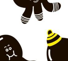 Black cute octopuses Sticker