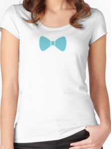 Turquoise Pastel Bow Women's Fitted Scoop T-Shirt