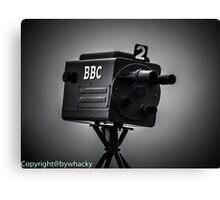 Retro bbc camera  Canvas Print