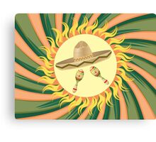 Sombrero and Maracas 4 Canvas Print