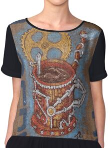 steampunk java Chiffon Top